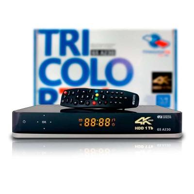 Спутниковый ресивер ТРИКОЛОР ТВ GS A230 Ultra HD (4K)